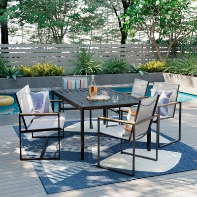 henning 6 person patio dining table