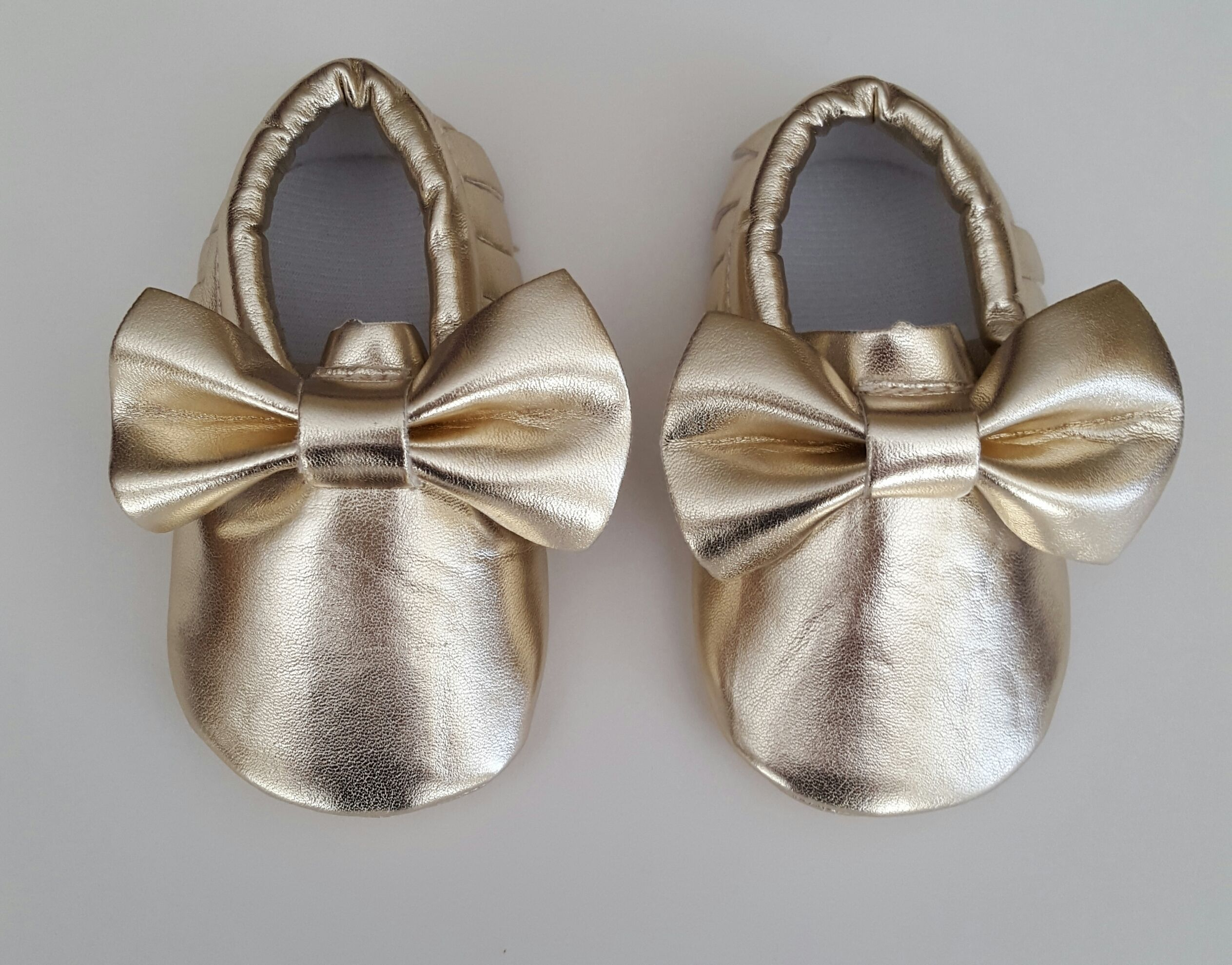 Gold Bow Moccasins  Now Available Only $20.00 each