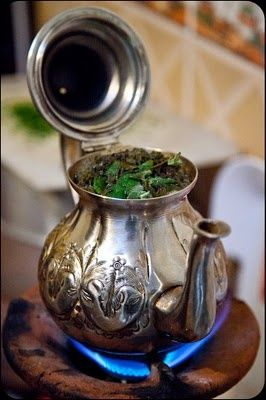 The best drink on the planet! Moroccan mint tea. #Mint #Tea #Morocco.
