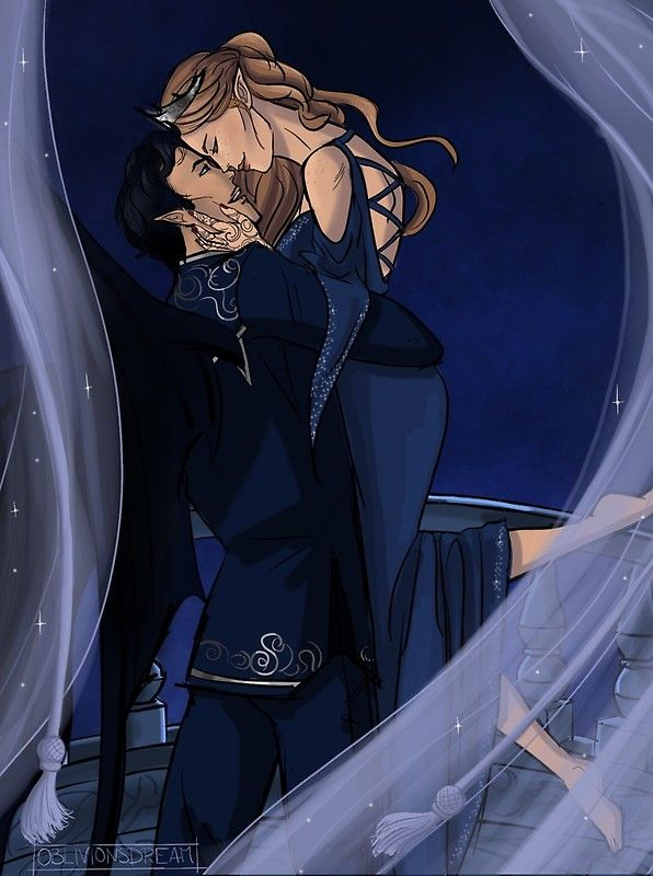 Feyre And Rhysand Greeting Card By Oblivionsdream Feyre