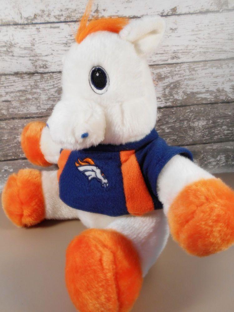Denver Broncos Plush Horse Mascot Miles Pony 10 H White W Blue