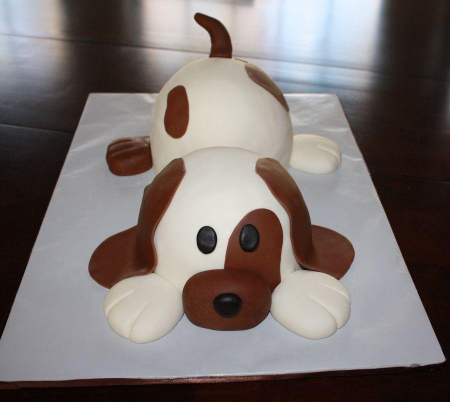 Puppy dog shaped cake recipe