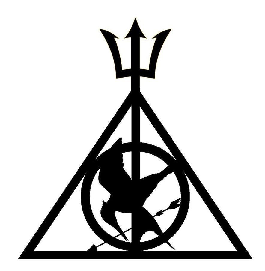 Deathly hallows google search inky thinky pinterest harry potter hunger games and percy jacksoni think i need to read percy jacksonod if i like it though cuz i have that minus the trident on my car biocorpaavc Images