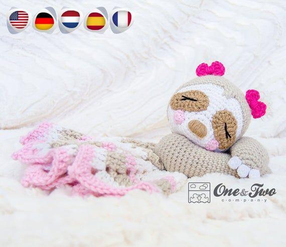 Lovey Crochet Pattern - Sloth PDF Security Blanket - Tutorial Digital Download DIY - Stella the Sloth Lovey - Dou Dou - Baby Toy
