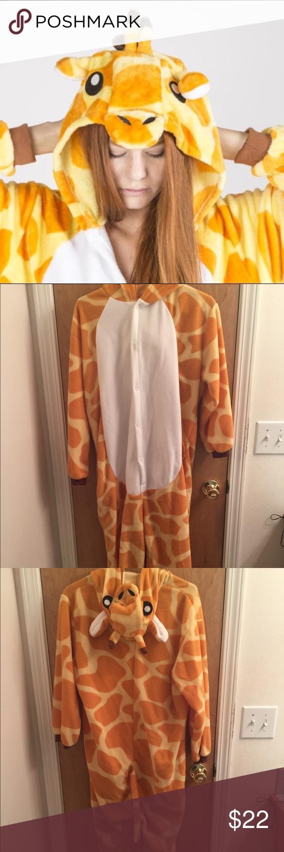 Giraffe Adult Onesie Pajamas Cute, soft, giraffe adult