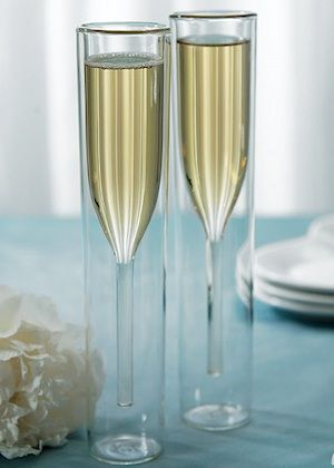 Modern Toasting Flutes With Double Wall Design Champagne Flutes Wedding Champagne Flutes Wedding Toasting Glasses