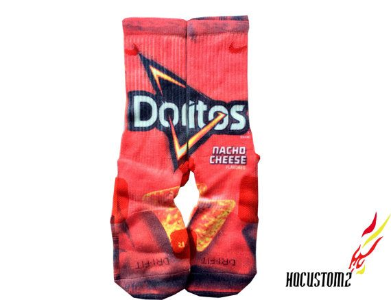 07523d750 Dorito Nacho Cheese Custom Nike Elite Socks ALL SIZES!! on Etsy, $29.94