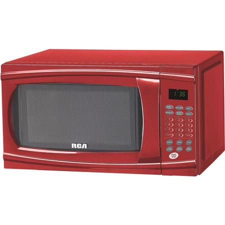 Rca 1 1 Cu Ft Microwave Red Walmart Com Countertop Microwave Red Microwave Microwave Oven