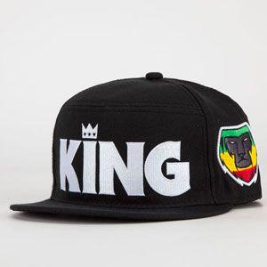44edbb7ebfc47 NEFF Kingster Mens Snapback Hat  king  hat  rosta  monkey  fivepanel  crown   snapback  blackhat