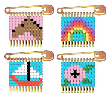 Safety pin beaded projects safety pin patterns free for Safety pin and bead crafts