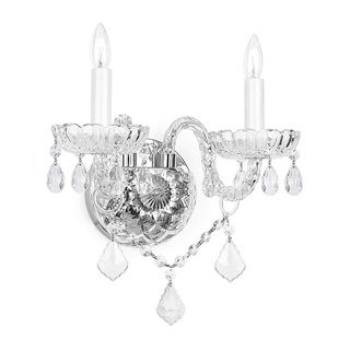 Bathroom Sconces Overstock overstock - venetian crystal 2-light wall sconce - http://www