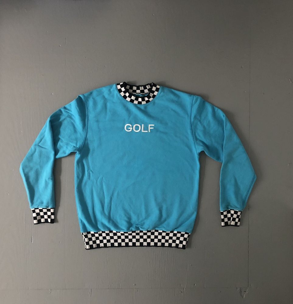 34189d285a9 Golf Wang Checkered Sweater Rare Odd Future Crewneck OFWGKTA Sweatshirt Rap  Tee  GolfWang  Crewneck  golfwang  ofwgkta  oddfuture  tylerthecreator   raptee ...