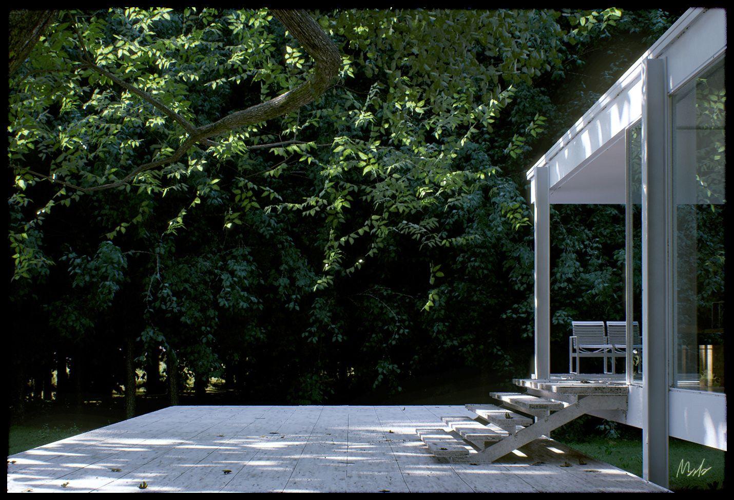 Farnsworth house by mies van der rohe exterior 8 jpg - Mies Van Der Rohe Farnsworth House By Alessandro Prodan