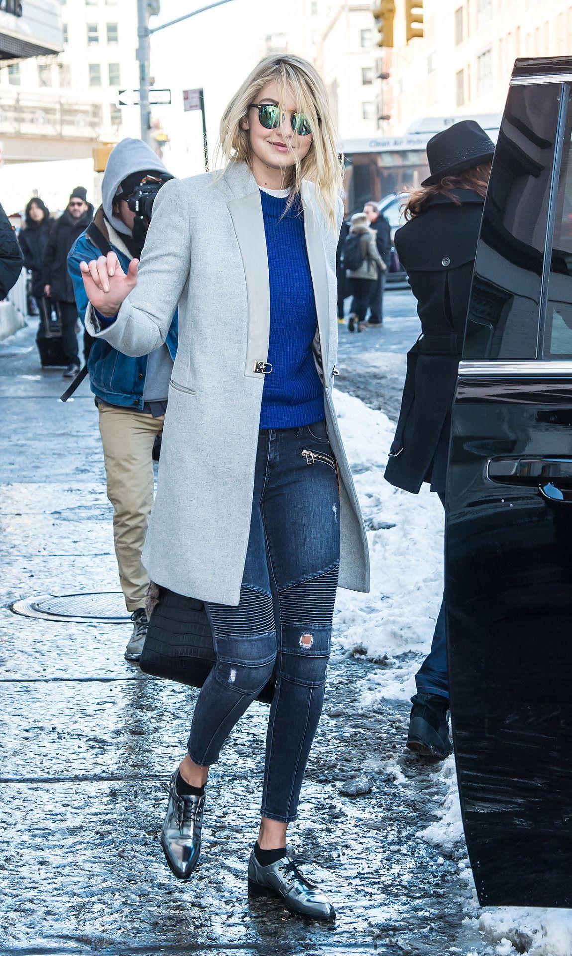 Gigi Hadid Fay coat.
