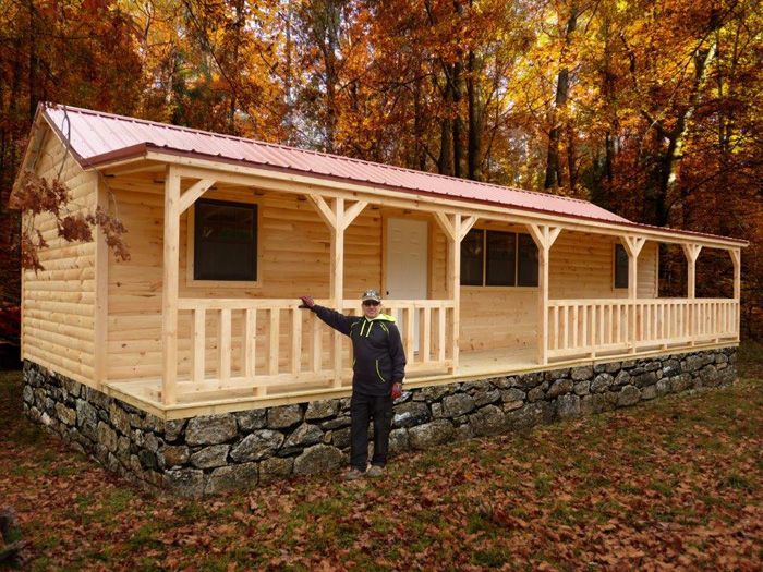 Modular Pioneer Cabin Lake Cabin Hunting Cabin Factory Direct In 2020 Small Log Cabin Small Cottage Homes Pre Built Cabins