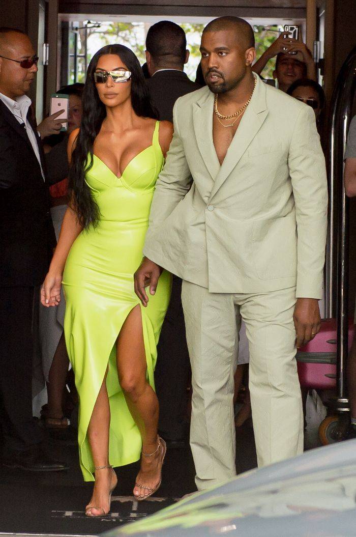 The Best Celebrity Wedding Guest Outfits Of 2018 Kim Kardashian Style Outfits Kim Kardashian Outfits Kanye West And Kim