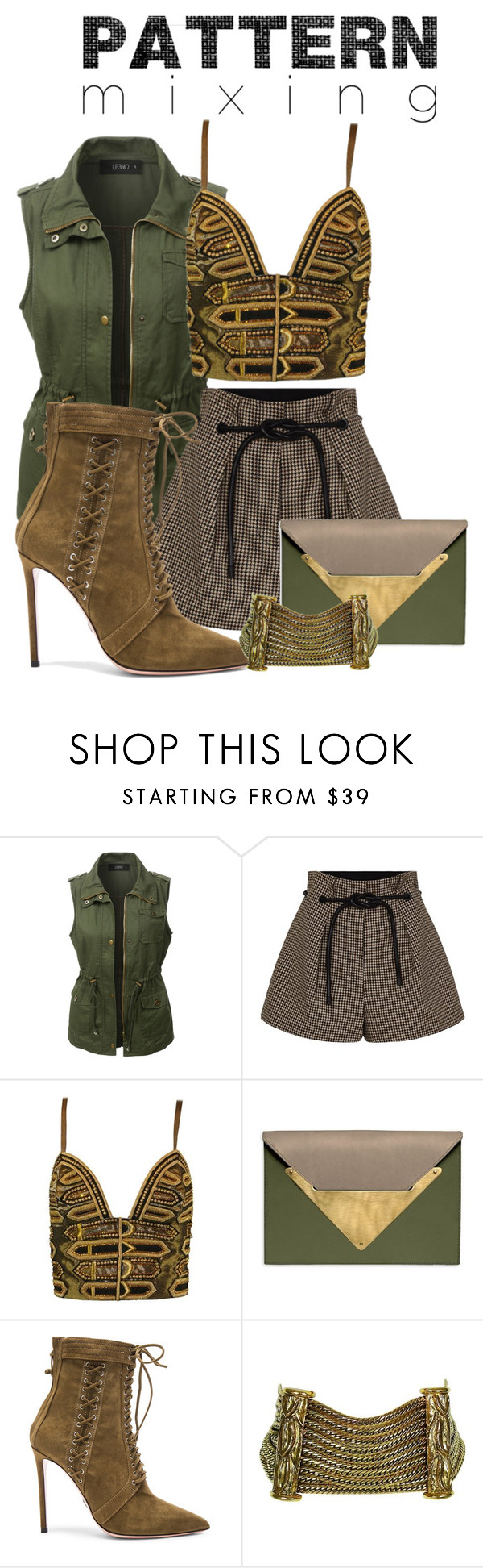 """""""Dare to be Different"""" by nakeda ❤ liked on Polyvore featuring LE3NO, 3.1 Phillip Lim, Versace, Dareen Hakim, Oscar Tiye and Christian Dior"""