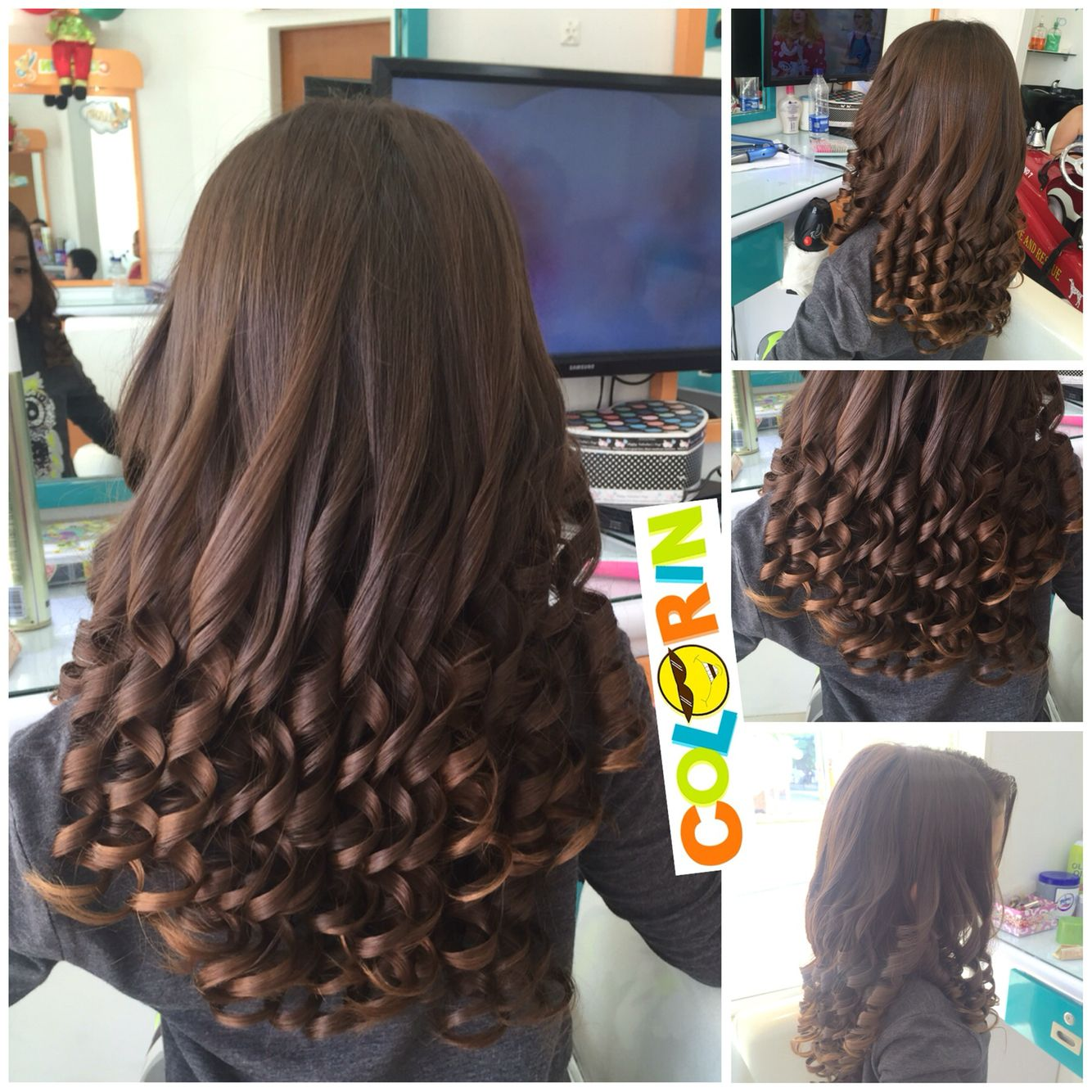 Extremadamente atractivo peinados con bucles Fotos de tendencias de color de pelo - Bucles o churcos con pinza para las nenas | Peinados ...
