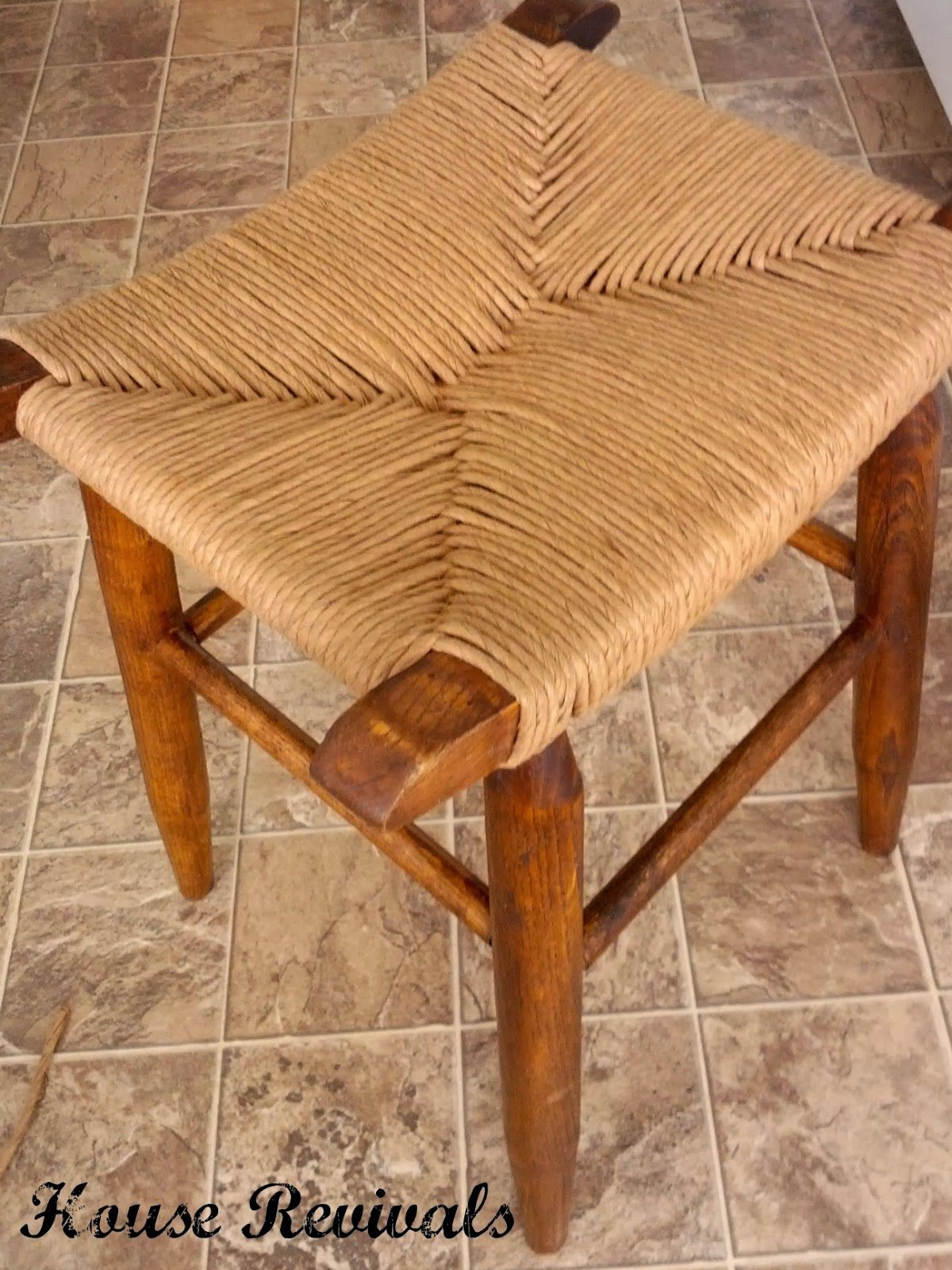 House Revivals How To Weave A Rush Seat Backyard Fun Pinterest