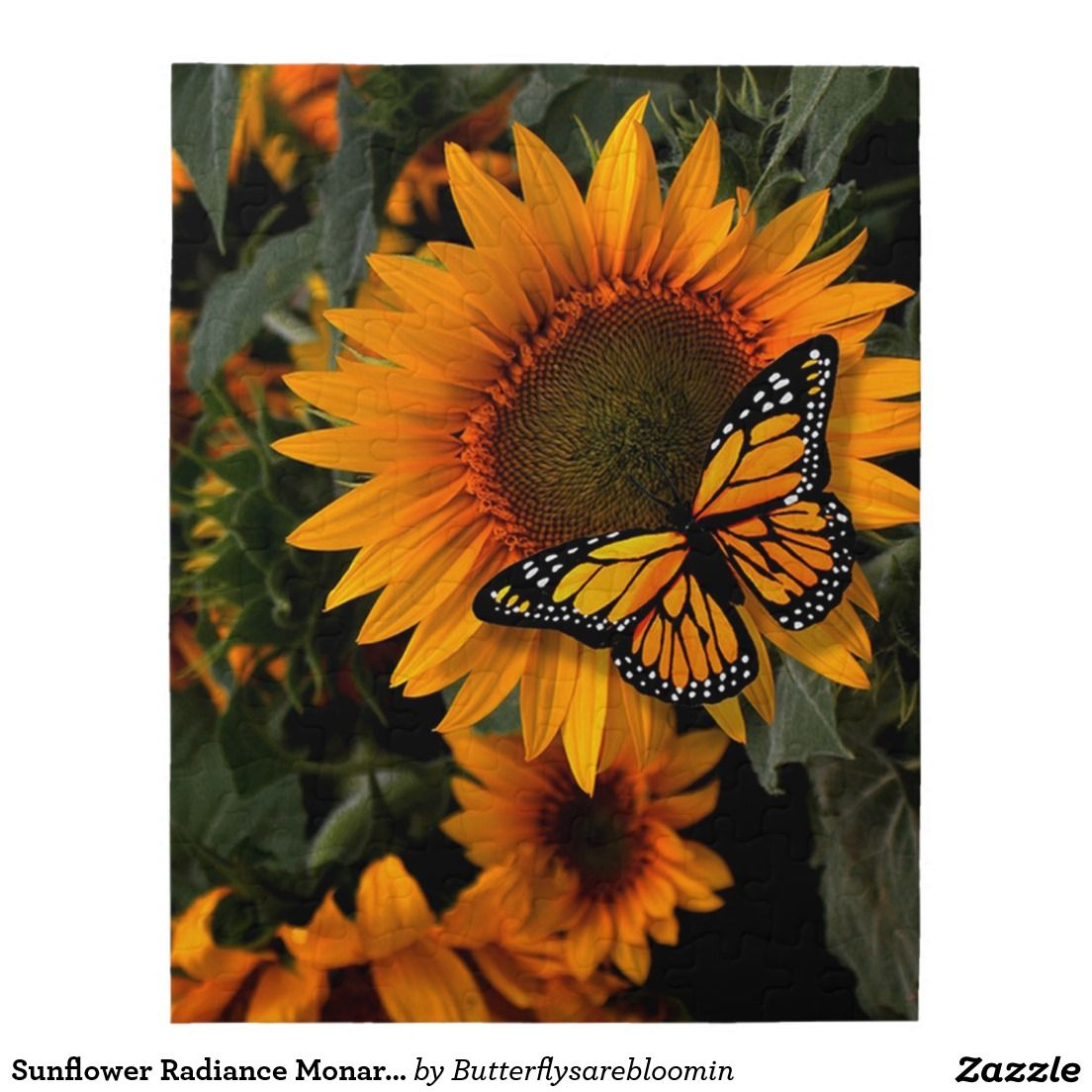 Sunflower Radiance Monarch Butterfly Puzzles | Cool Nature Puzzles ...