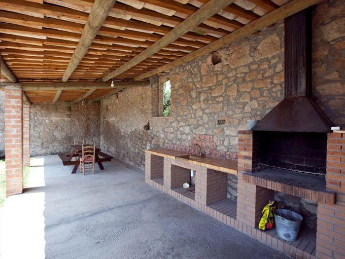 Maison rurale isolée et indépendante avec barbecue, salle de jeux et