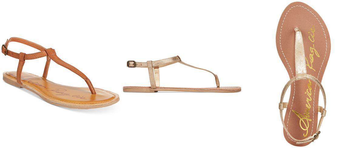bd384208547ad American Rag Krista T-Strap Flat Sandals