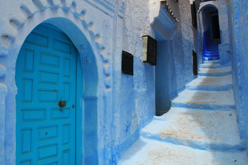 Chefchaouen The entire town is a gorgeous baby-blue colour...