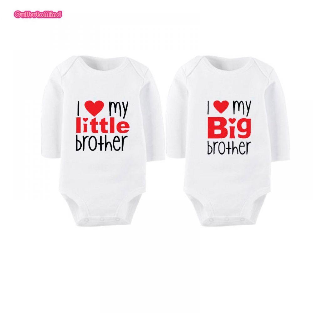 b0aff2c233d20 Culbutomind Twin Clothes I Love My Little Sister Big Brother Newborn ...
