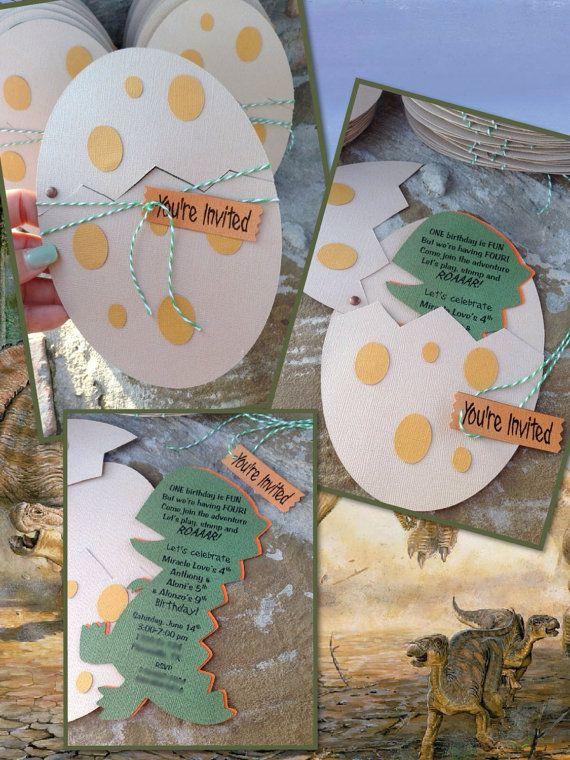 Conjunto De 8 A Mano Dinosaurio Dino Huevo Por