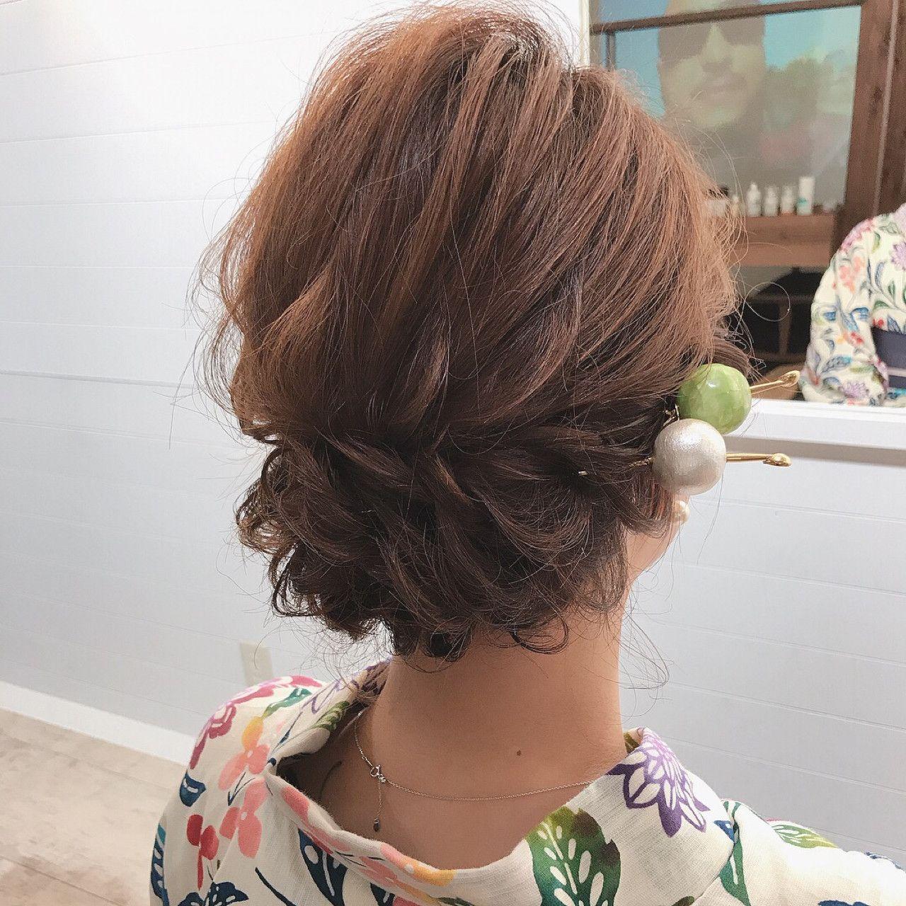 2018夏 浴衣に合うヘアアレンジ 長さ別にご紹介 かんざし ヘアスタイル 浴衣 ヘアアレンジ かんざし 髪型