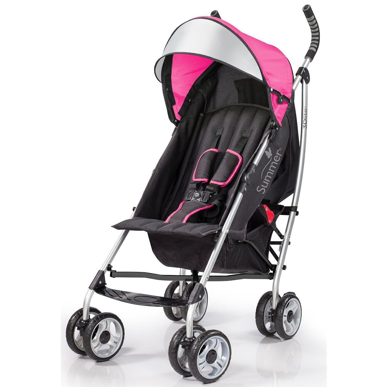 Summer Infant 3D Lite Convenience Stroller, Hibiscus Pink