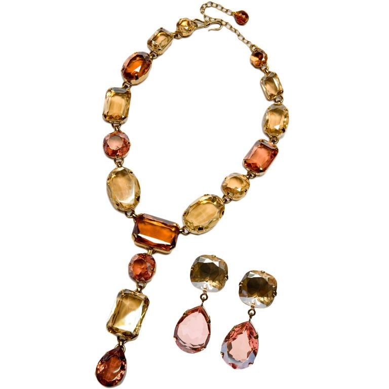Philippe Ferandis Peach and Citrine couture set
