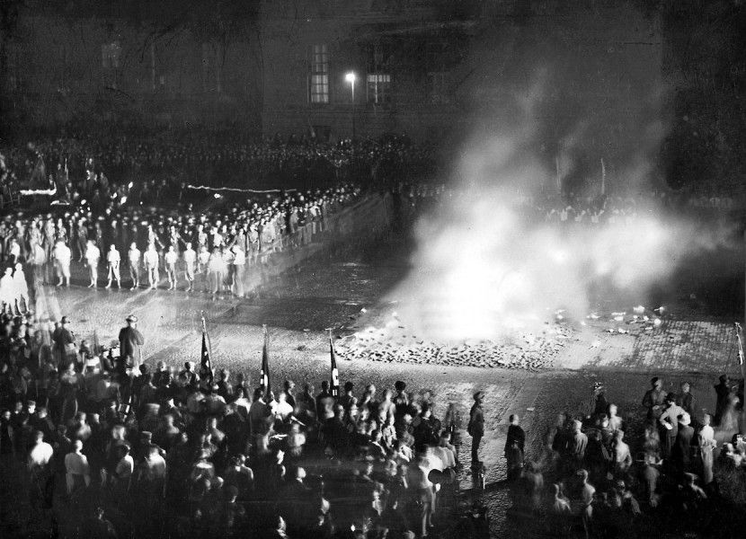 Image result for Joseph Goebbels- book burning