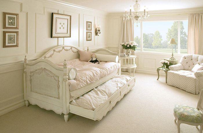shabby deko, schlafzimmer einrichten und dekorieren, bett und ...