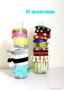 25 tips and ideas to organize your home, organizing, DIY Recycled Bottles