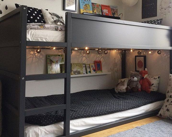 ikea kura hack deko ideen zum hochbett klassiker kinderzimmer kinderzimmer kinder zimmer. Black Bedroom Furniture Sets. Home Design Ideas