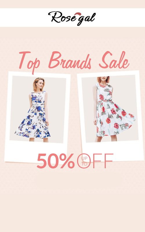 At Rosegal, they are offering 50% discount on Top Brands ...