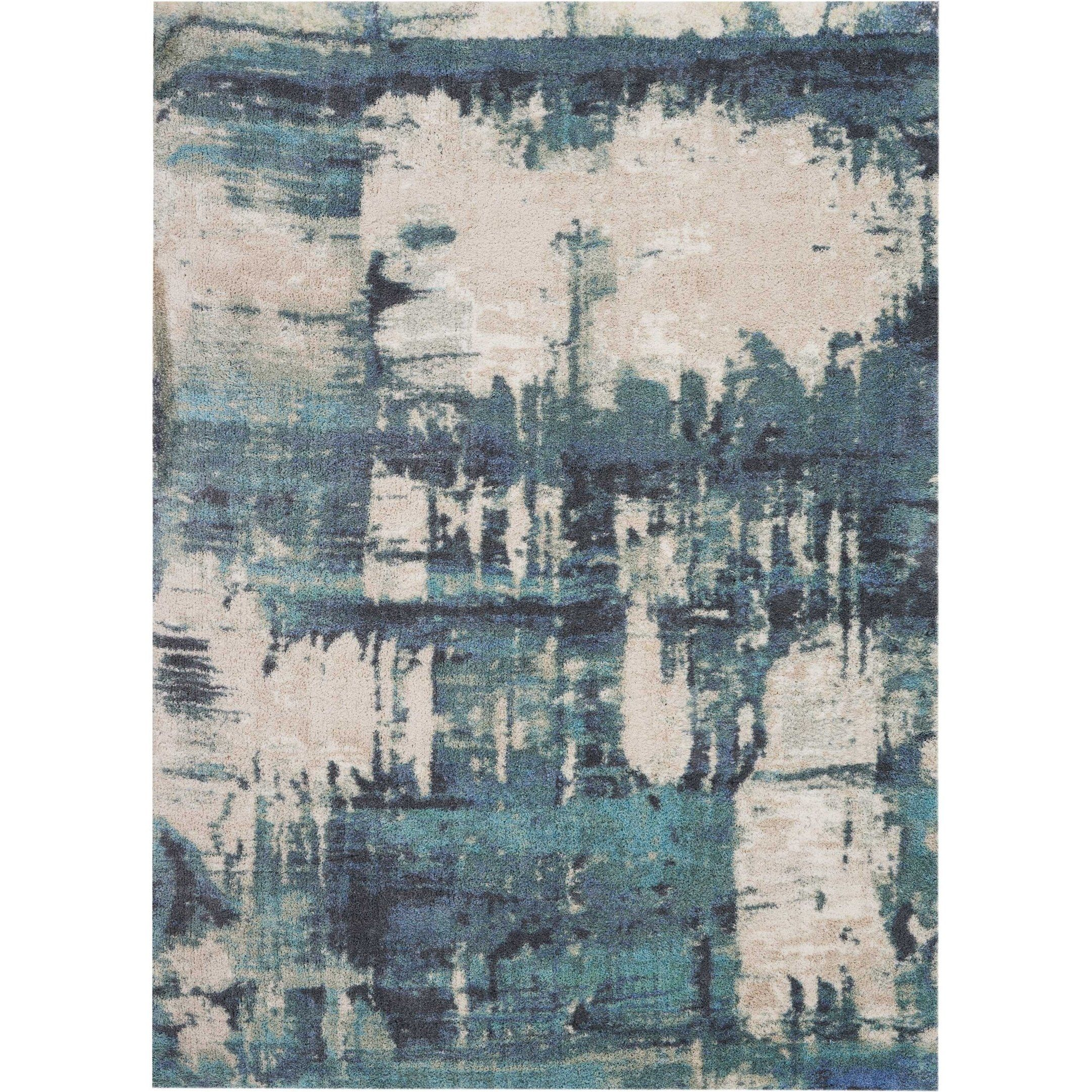 Nourison Hand Tufted Abs01 Abstract Shag Area Rug Blue Area Rugs Area Rugs Rugs