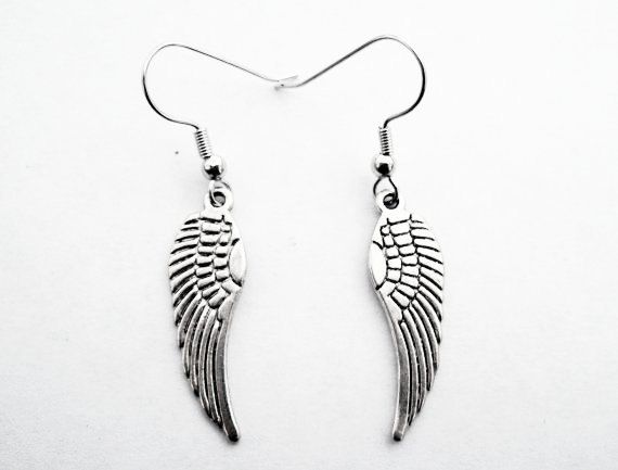 Large Feathers Sterling Silver 925 Drop Earrings Organza Gift Bag