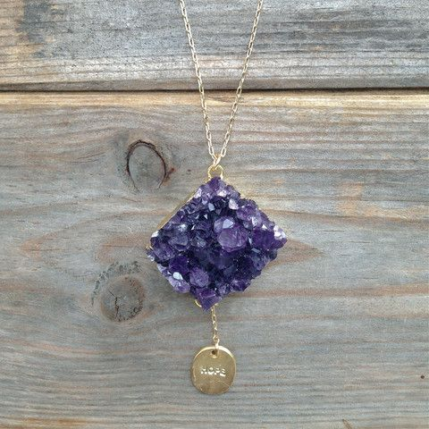 Amethyst Hope Jasmine | Unique Eastern inspired handmade jewelry from Chameli