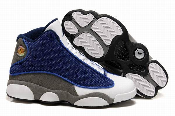 online store 9b35b bea48 Nike Air Jordan 13 Retro Flint Blue Grey White Shoes