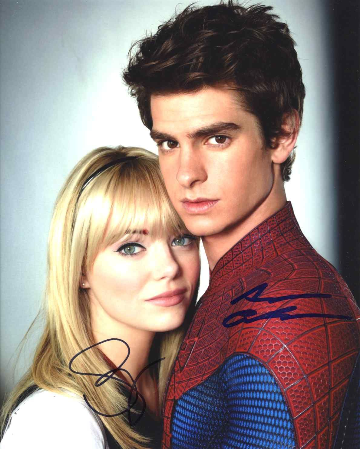 the amazing spiderman cast signed 8x10 photo certified authentic psa