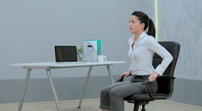 Armrest Dips - Want to build your #triceps but have no time for the #gym? Learn how you can do it at your #office desk.