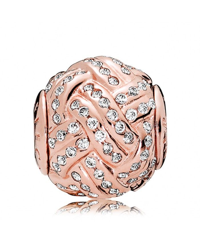 12867d2c0 Pandora Black Friday Essence Rose Gold Cz Affection Charm has special  design, it looks like knot with sparkling diamond!