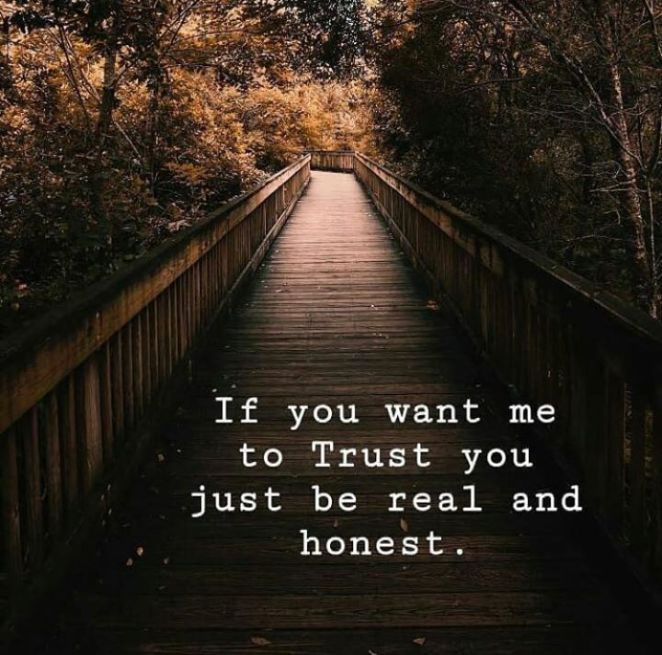 Inspirational Positive Quotes :If you want me to trust you..