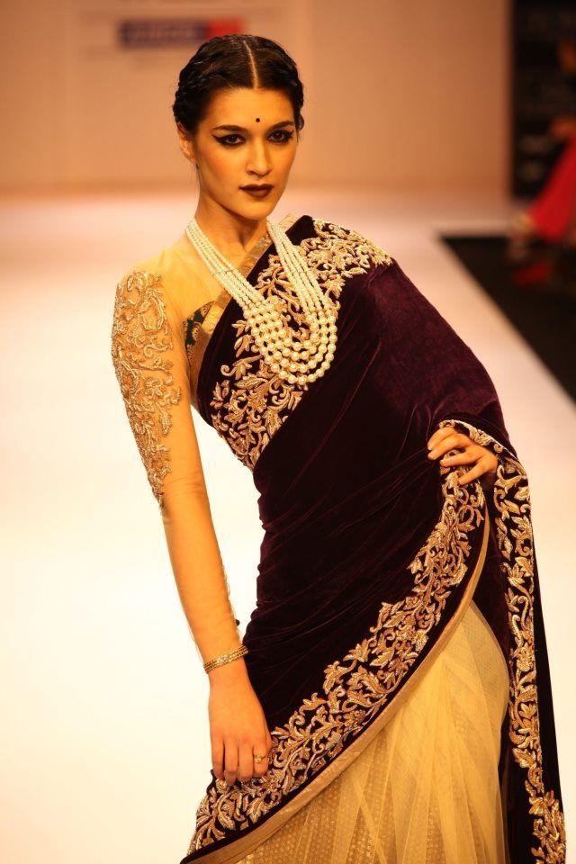 Desi fashion police saree blouse 50