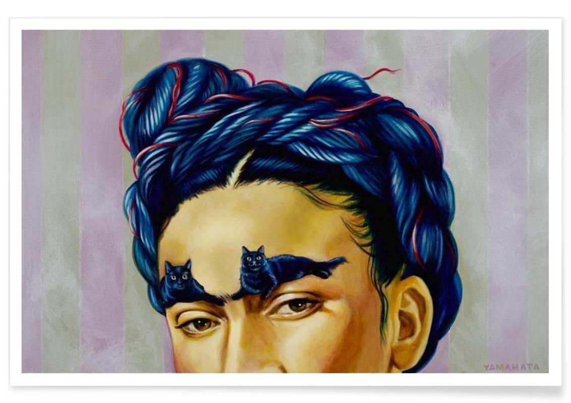 Frida als Premium Poster von Jared Yamahata | JUNIQE