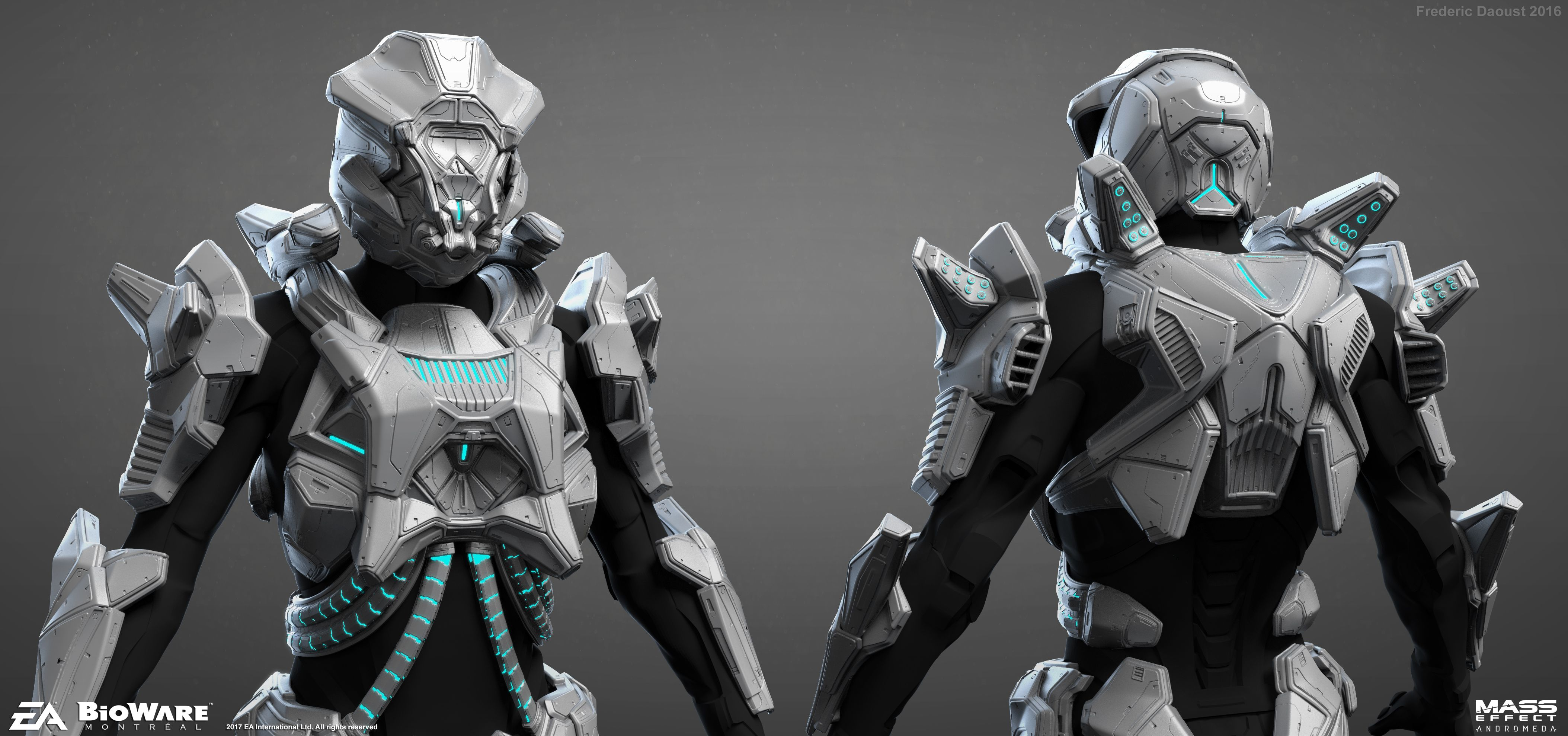 mass effect remnant armor by frederic daoust sci fi 3d