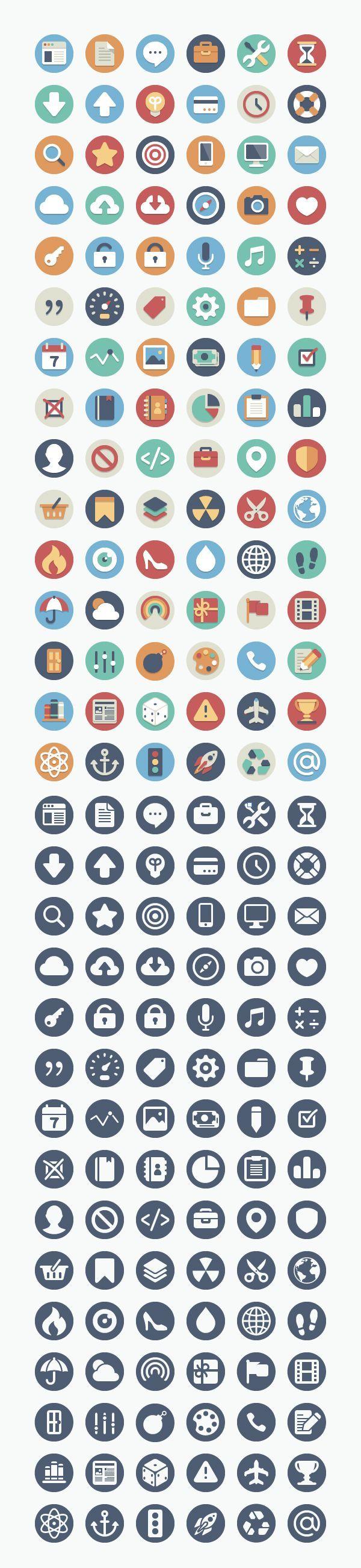 Sehr schönes IconSet für schulische Projekte (können auch
