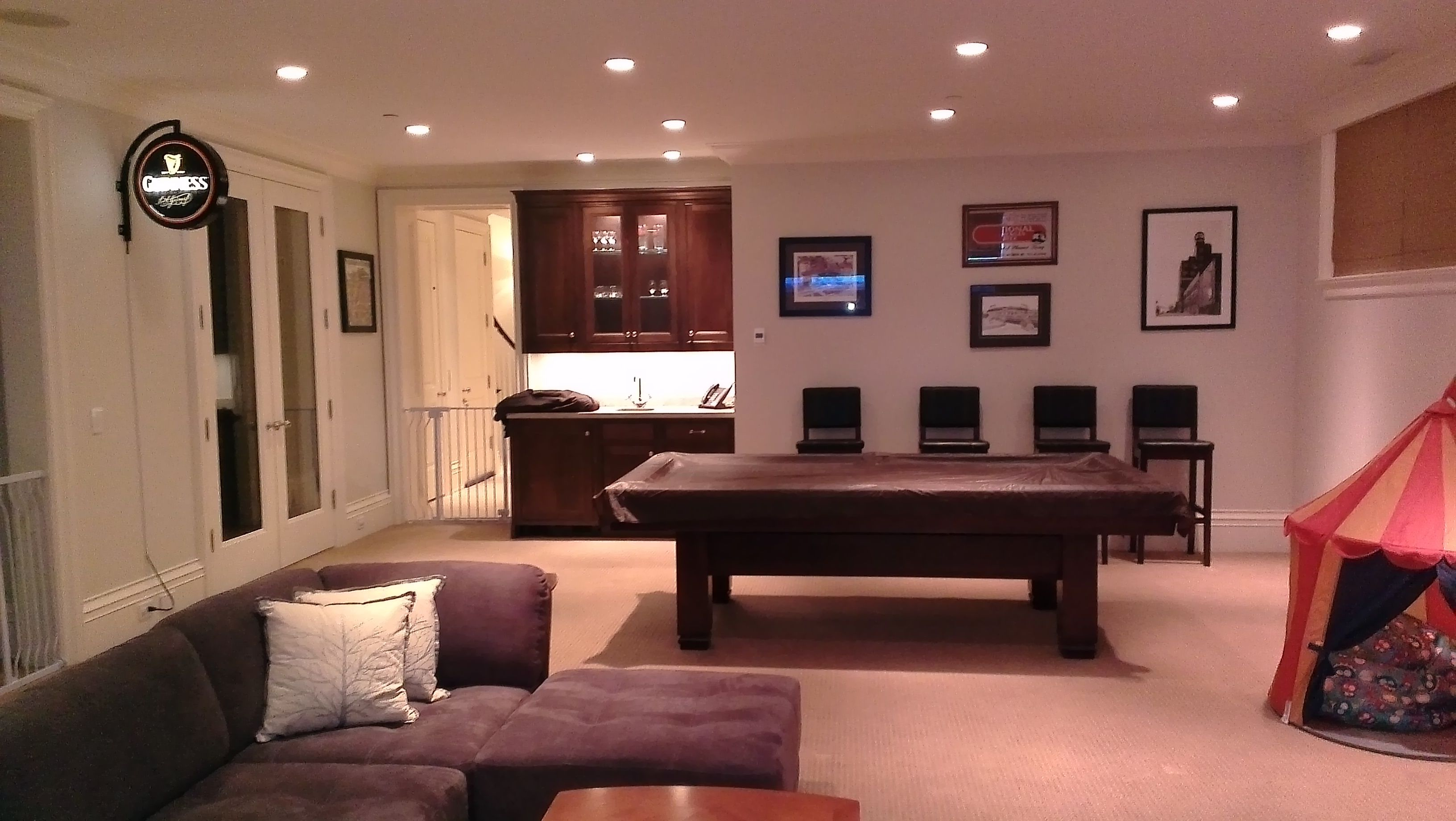 Basement Rec Room, Bar & Pool Table Idea